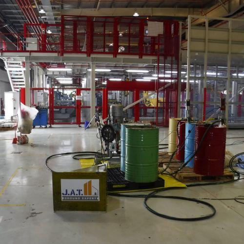 งานยกปรับระดับพื้นคอนกรีต โรงงานผลิตเครื่องทำความเย็น อมตะซิตี้