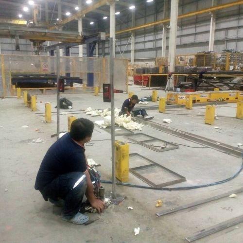 งานยกปรับระดับพื้นคอนกรีต ฐานเครื่องจักรโรงงานผลิตโครงสร้างคอนกรีตสำเร็จรูป ชลบุรี
