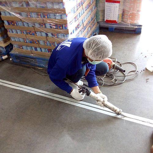 งานซ่อม concrete joint พื้นโรงงานอาหารสัตว์ บางพลี