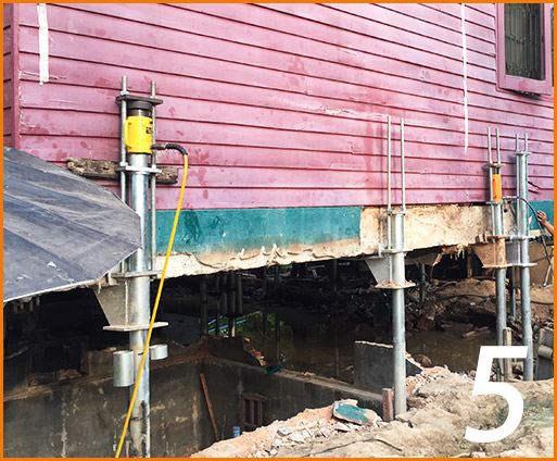 Micropiles for Structure Jacking5
